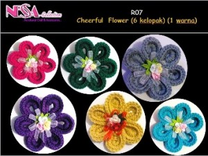 R07-Cheerful Flower-6 kelopak 1 warna